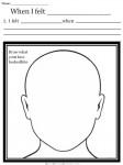 Here is the first of seven worksheets to help children to deal with upsetting emotions.  Other worksheets in this series name specific emotions such as sadness and anger.  This one allows the child to fill in his own emotion words.