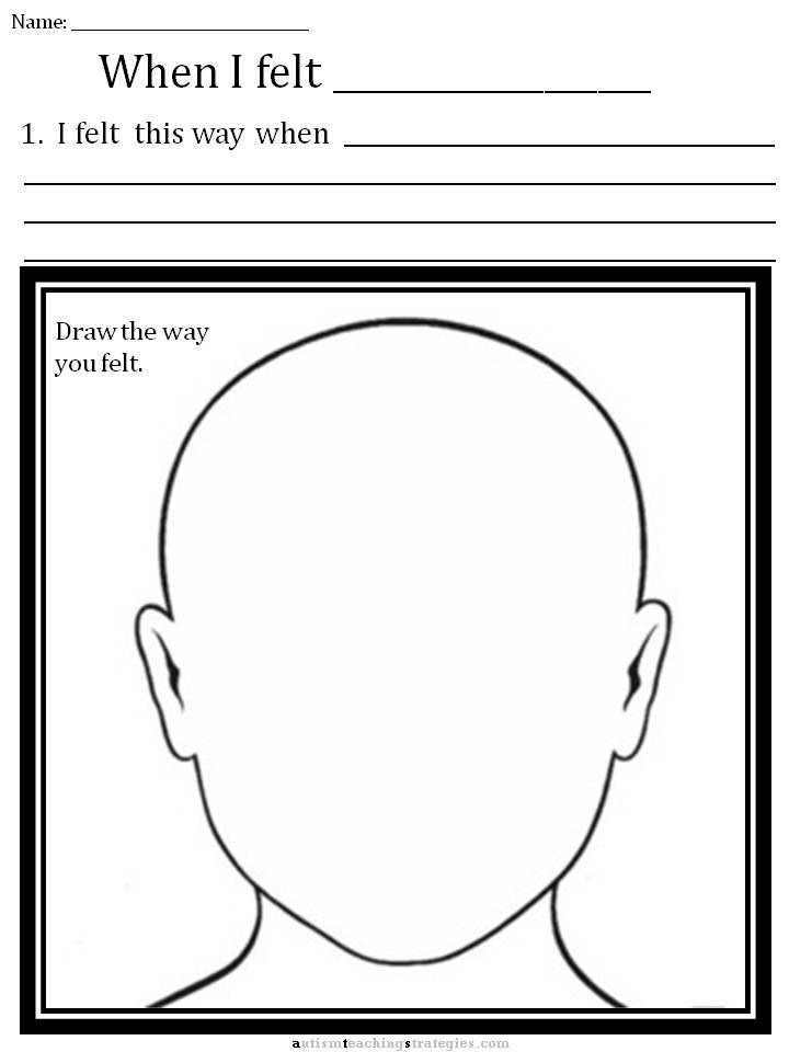 CBT Children's Emotion Worksheet Series: Basic Worksheet for ...