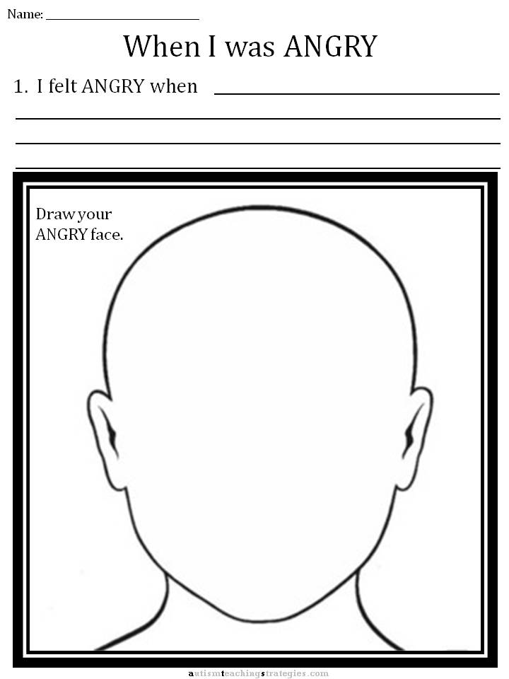 Cbt Childrens Emotion Worsheet Series 7 Worksheets For Dealing With Anger on Learning Activities For 6 Year Old Boy