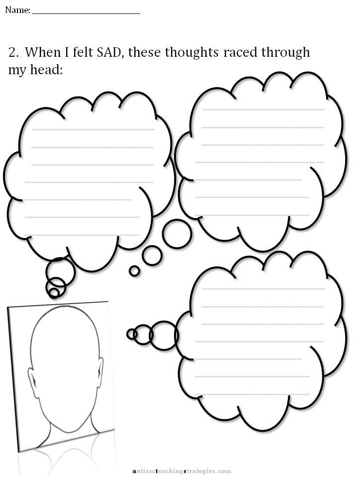 CBT Childrens Emotion Worksheet Series 7 Worksheets for Dealing – Cbt Worksheets for Depression