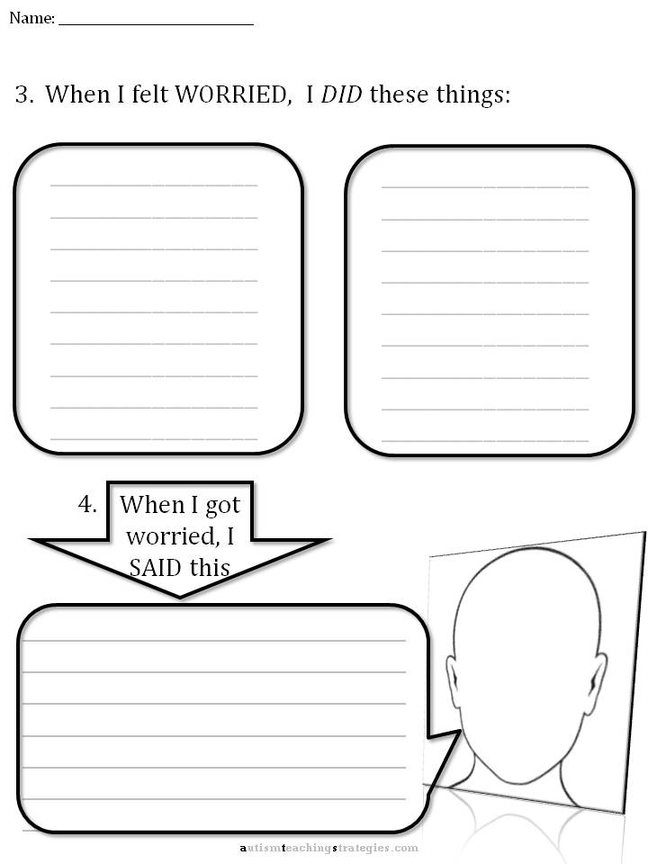 CBT Children's Emotion Worksheet Series: 7 Worksheets for