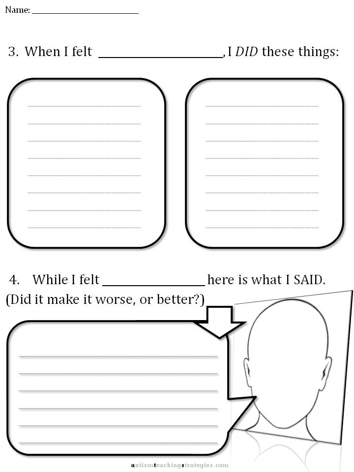 Cbt Children's Emotion Worksheet Series 7 Worksheets For Dealing. Worksheet. Worksheets For Children With Autism At Clickcart.co
