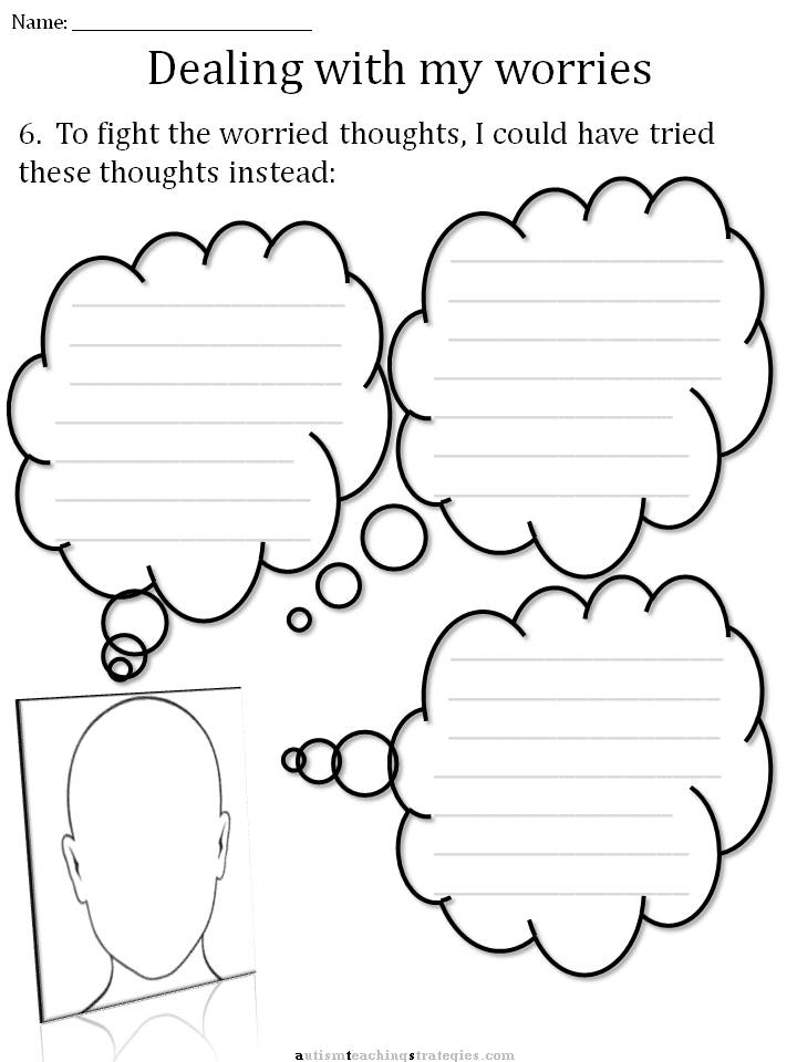 Printables Worksheets For Children With Autism cbt childrens emotion worksheet series 7 worksheets for dealing slide10