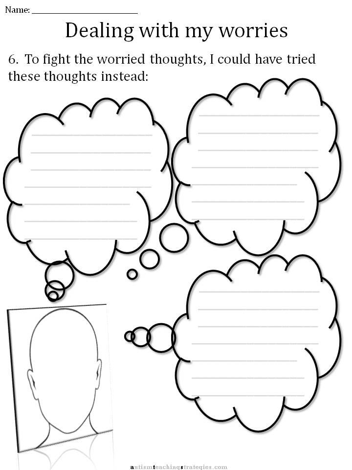 Printable Worksheets is and are worksheets for kindergarten : CBT Children's Emotion Worksheet Series: 7 Worksheets for Dealing ...