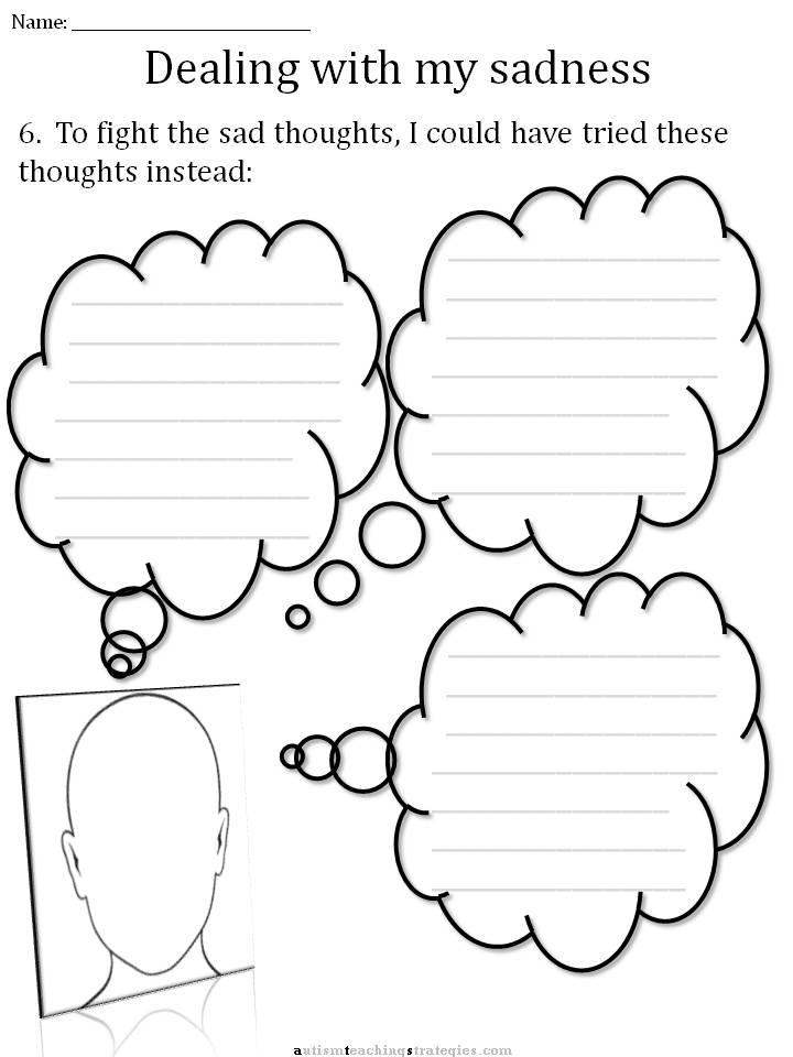 Printables Depression Worksheets cbt childrens emotion worksheet series 7 worksheets for dealing filter the thoughts activity