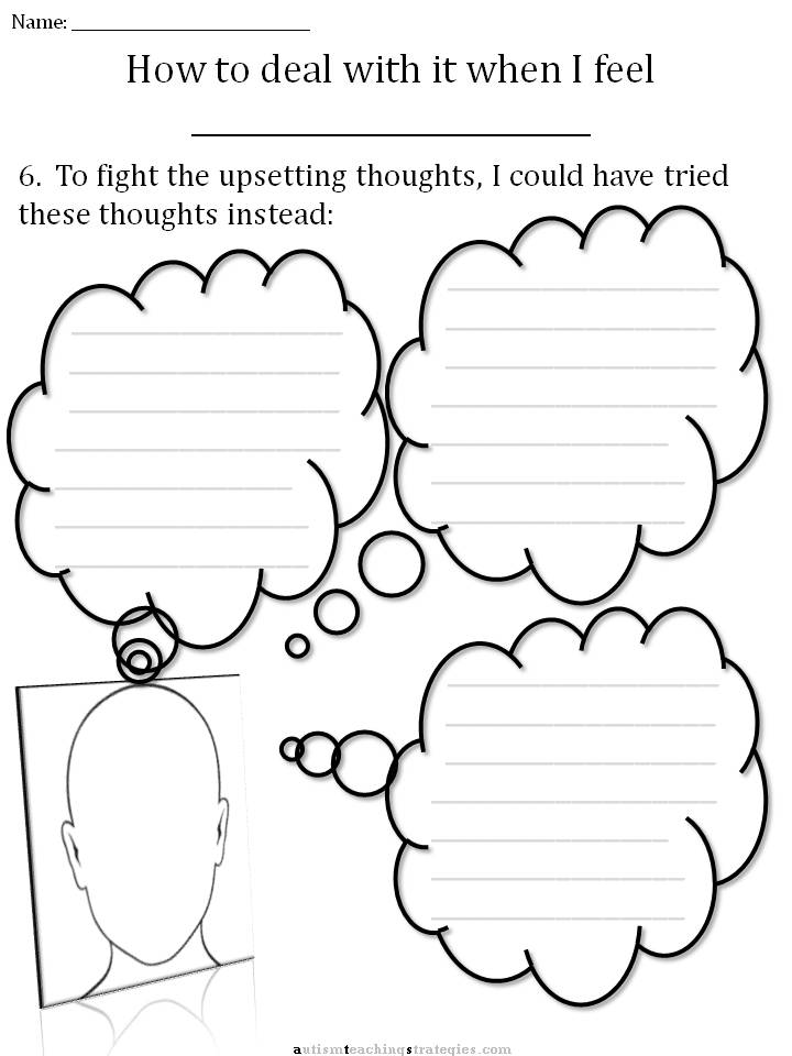 CBT Anxiety Worksheets For Kids as well Feelings Faces Chart Emotions ...