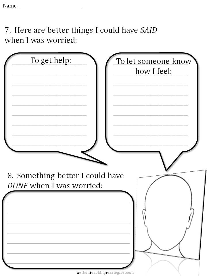 CBT Childrens Emotion Worksheet Series 7 Worksheets for Dealing – Social Skills for Kindergarteners Worksheets