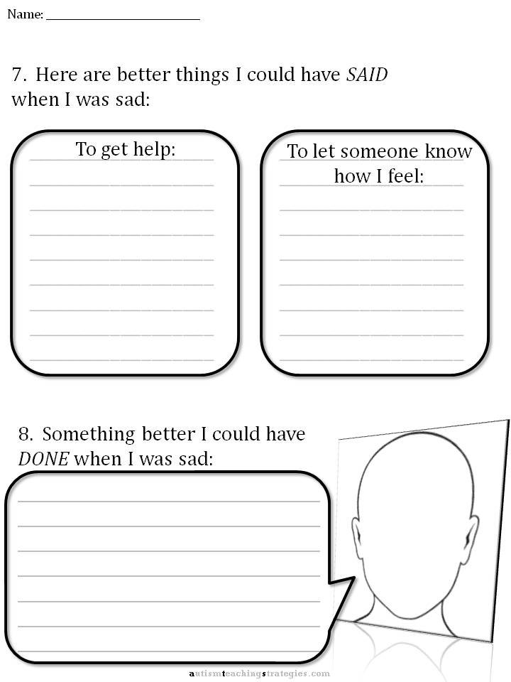 CBT Childrens Emotion Worksheet Series 7 Worksheets for Dealing – Depression Worksheets