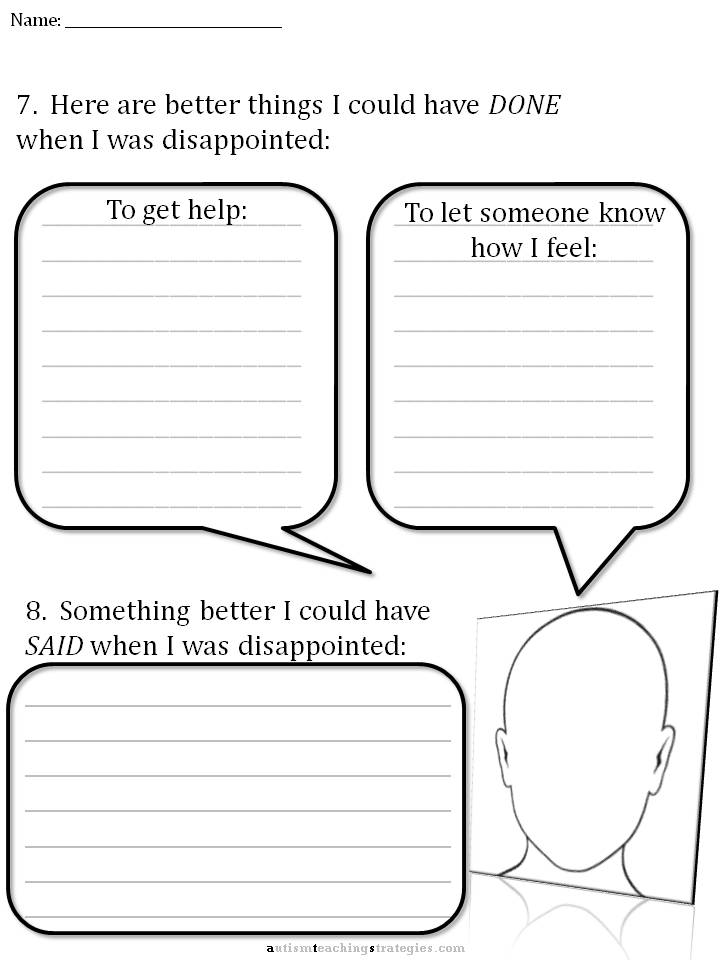 CBT Childrens Emotion Worksheet Series 7 Worksheets for Dealing – Coping Skills Worksheets for Kids
