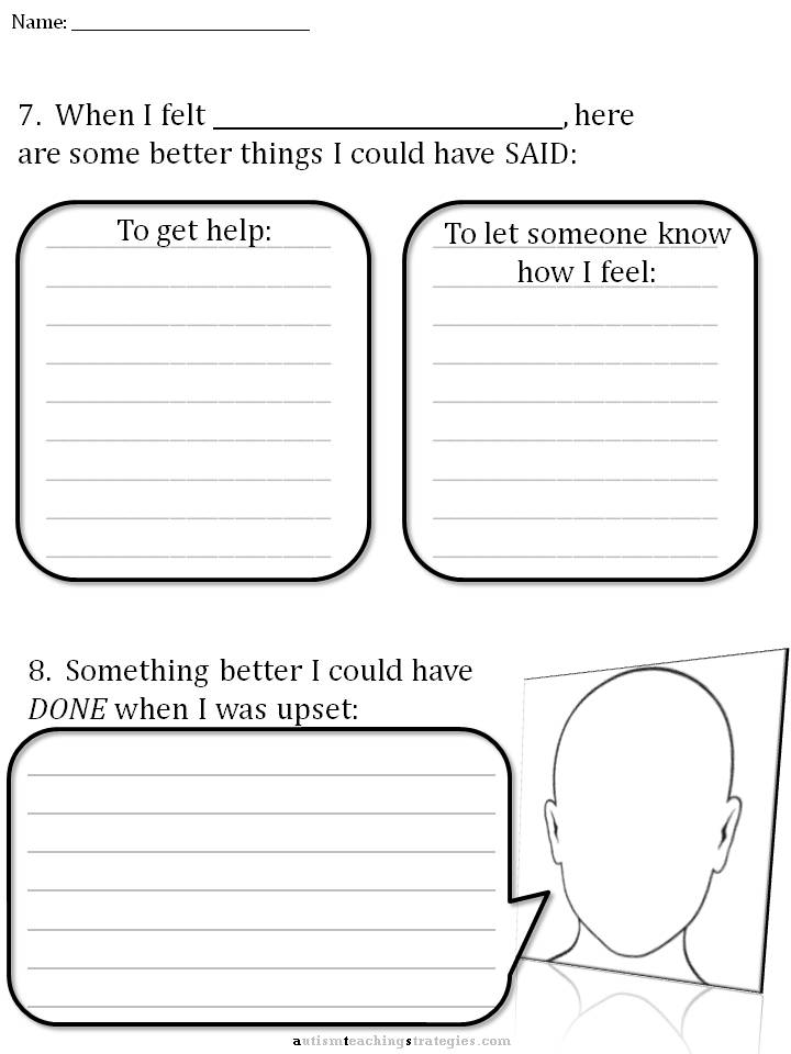 Emotion Therapy Worksheets | Free Printable Math Worksheets - Mibb ...
