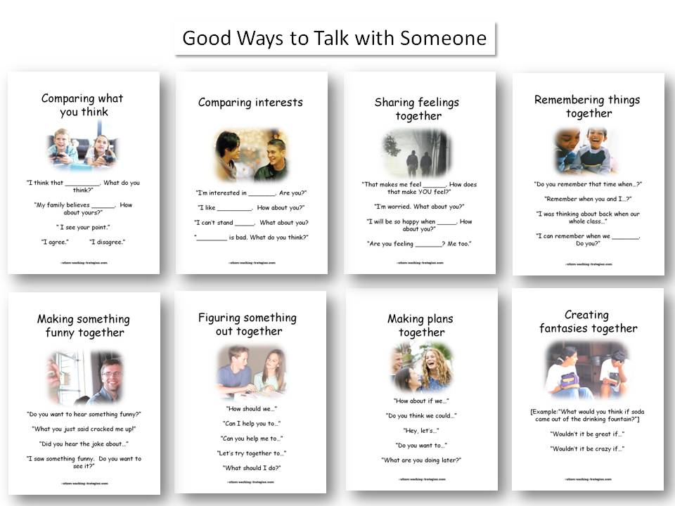 Worksheets Social Skills Activities Worksheets 11 wall displays visual tools for autism social skills teaching conversation box panels