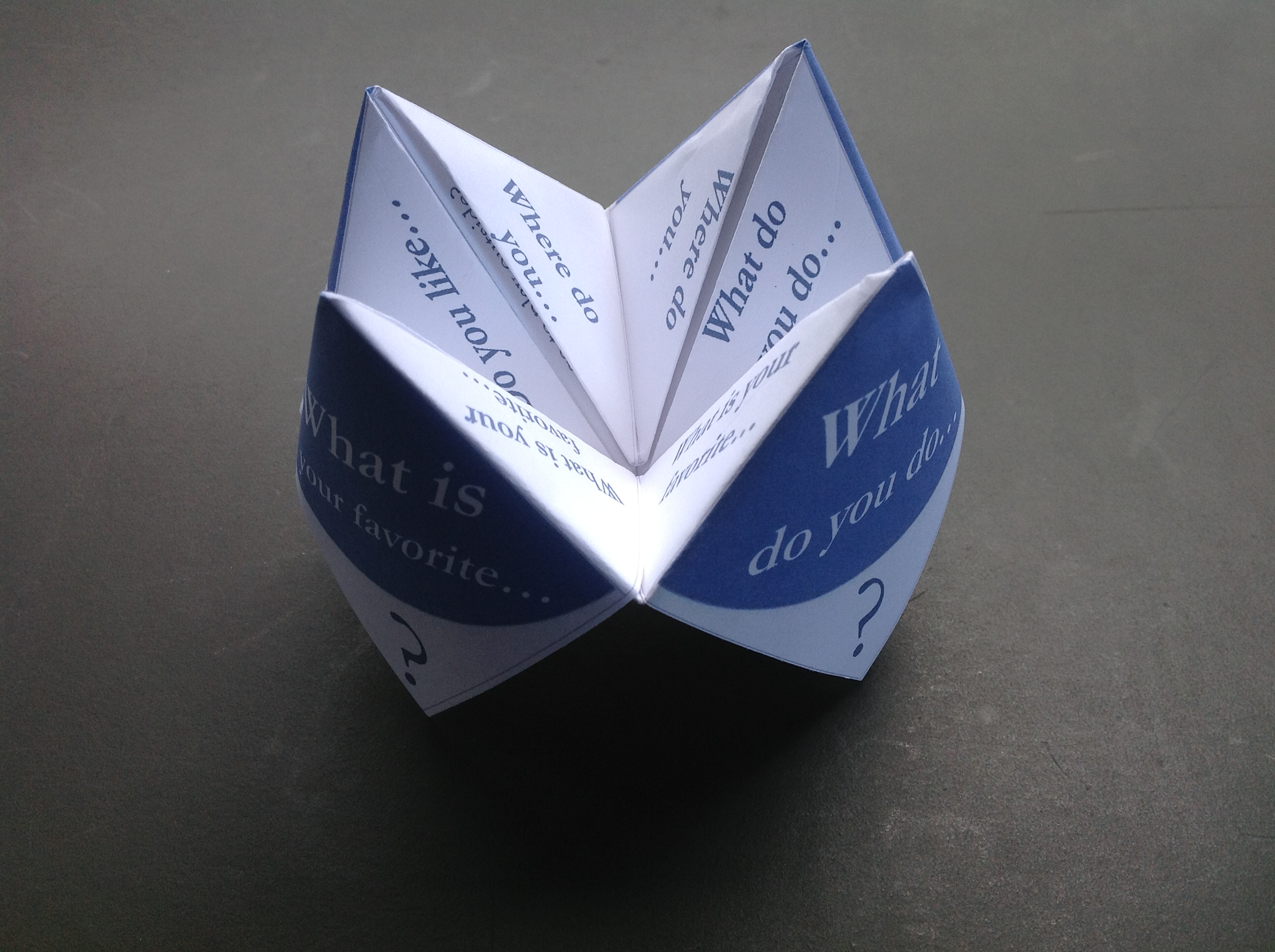 Paper fortune tellers social skills games for children with this jeuxipadfo Gallery