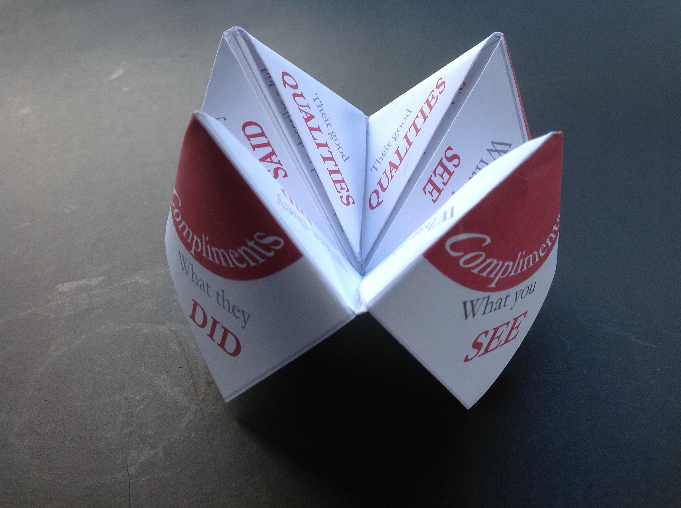 Paper Fortune Tellers – social skills games for children ... - photo#47