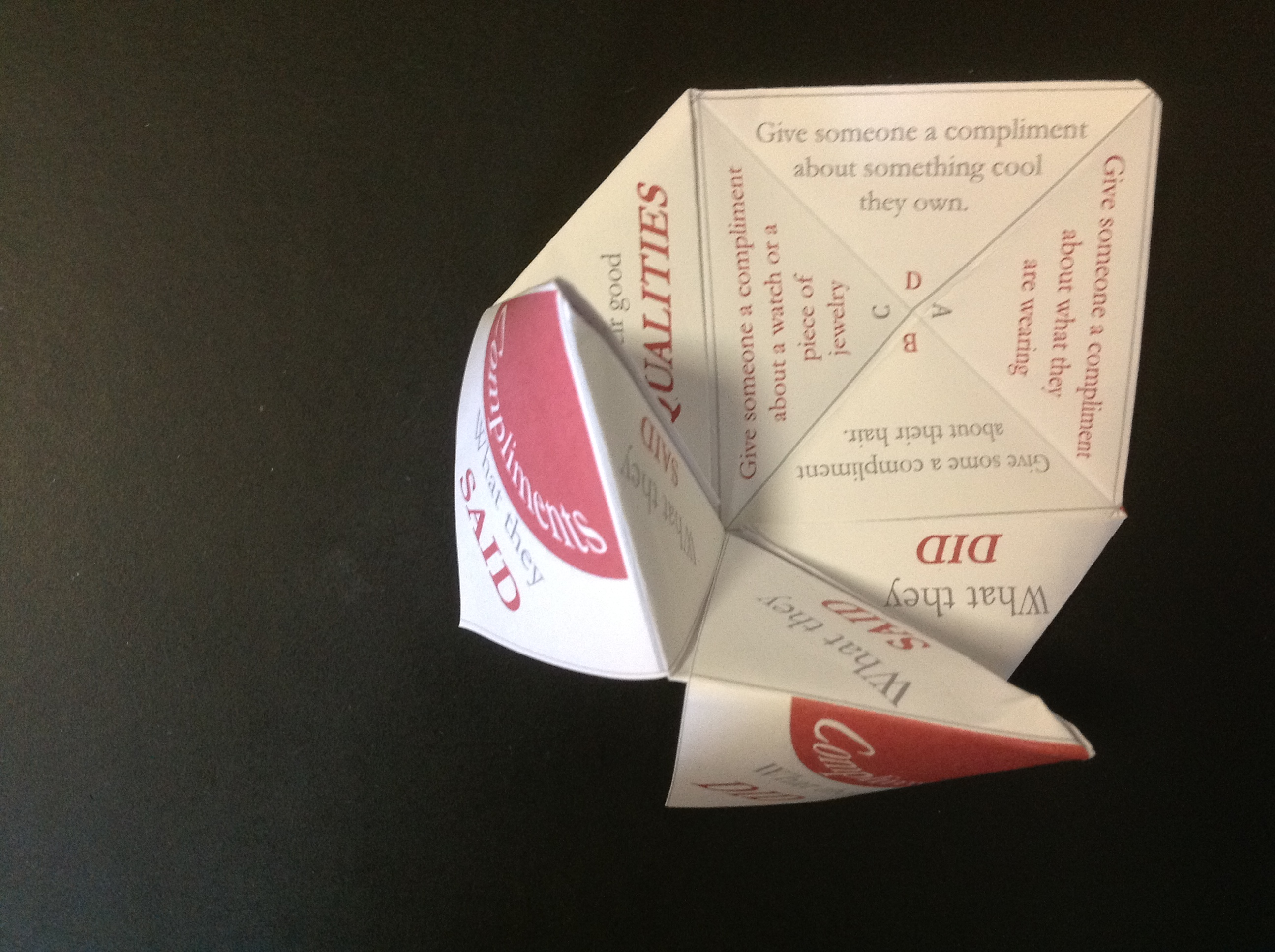 Paper Fortune Tellers – social skills games for children ... - photo#49