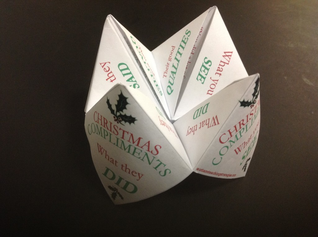 Christmas Compliment Paper Fortune Teller, Featured Image