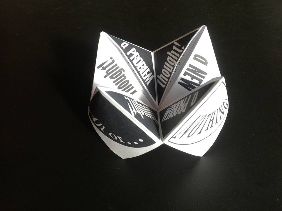 paper fortune teller cognitive behavioral therapy children