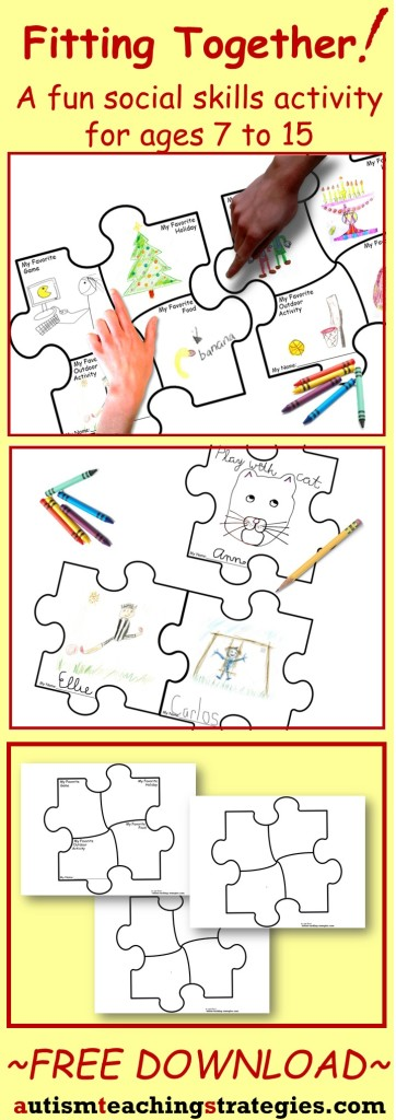 Puzzle Piece Drawing Activity Pinterest