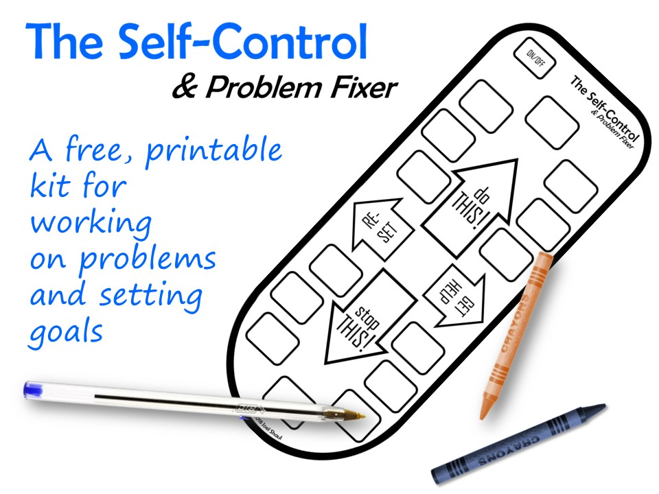 image about Free Printable Self Control Worksheets named Distant Take care of\u201d Undertaking # 2: Pleasurable \u201cProblem Fixer\u201d proposed for