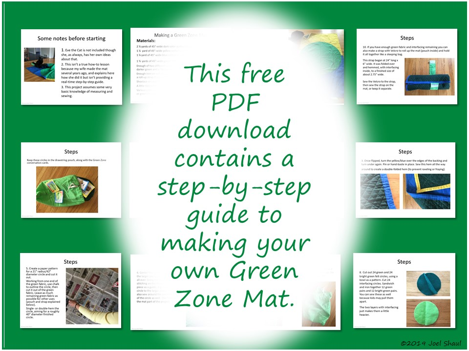 green zone conversation mat  u2013 diy project therapy resource